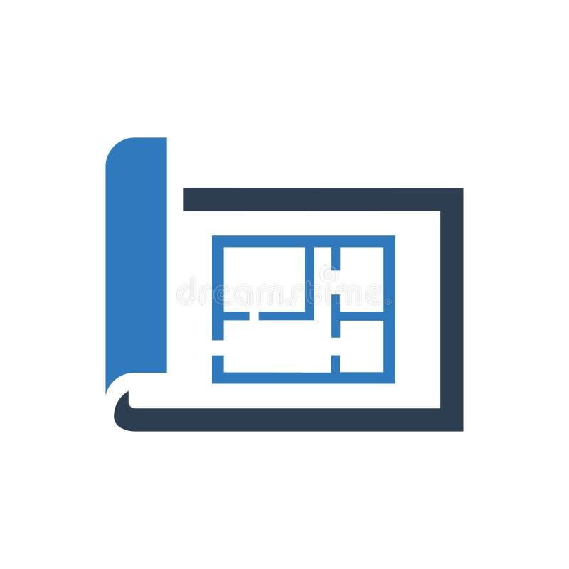 Het pictogram van de architectenblauwdruk royalty-vrije illustratie