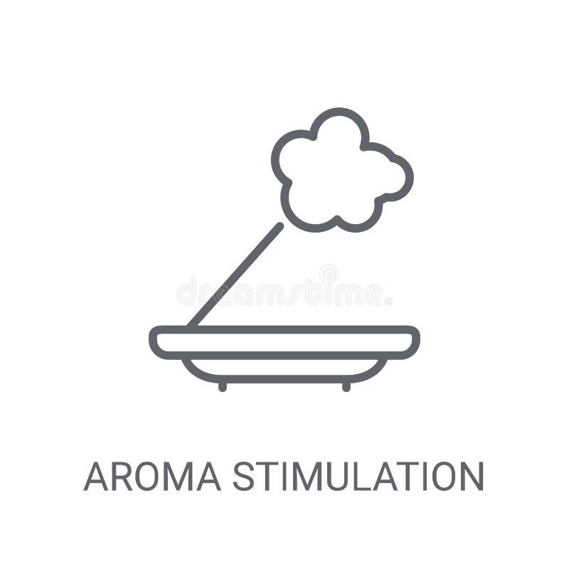 Het pictogram van de aromastimulatie In het embleemconcept van de Aromastimulatie  royalty-vrije illustratie