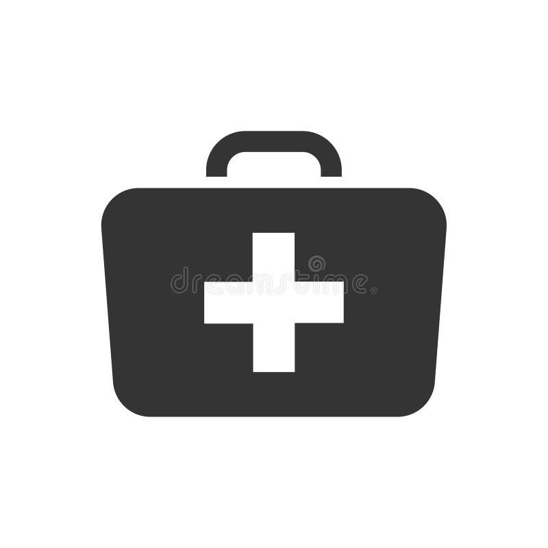 Het pictogram van de artsenzak royalty-vrije illustratie