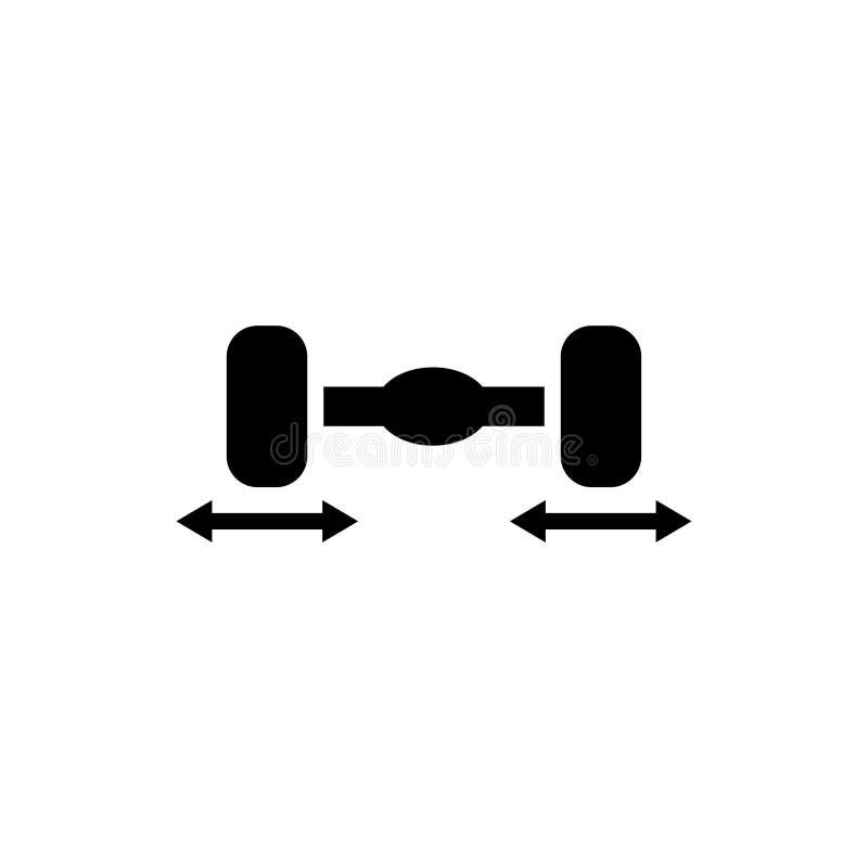 Het pictogram van de auto achteras stock illustratie