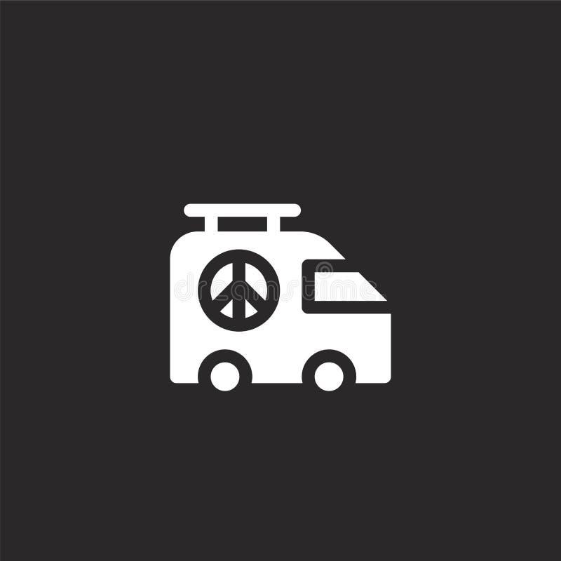 Het pictogram van de auto Gevuld autopictogram voor websiteontwerp en mobiel, app ontwikkeling autopictogram van gevulde geïsolee stock illustratie