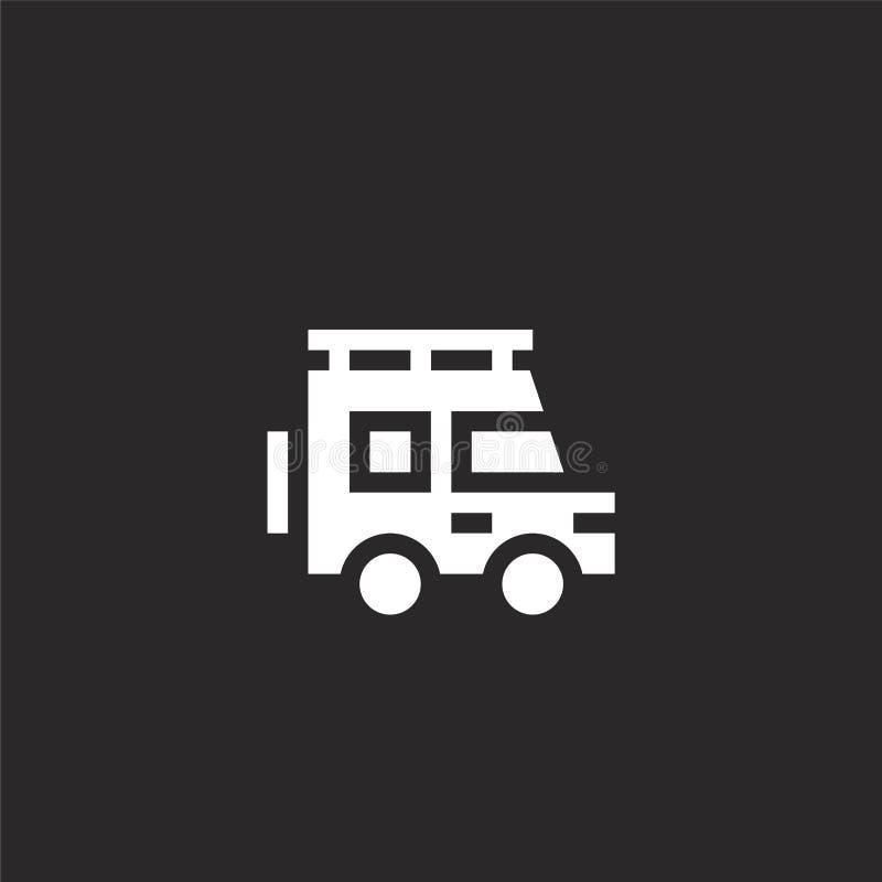 Het pictogram van de auto Gevuld autopictogram voor websiteontwerp en mobiel, app ontwikkeling autopictogram van gevulde hobbys e stock illustratie