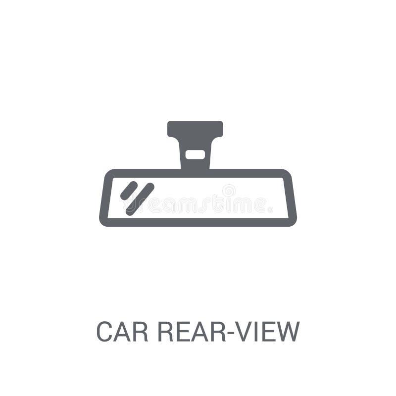 het pictogram van de autoachteruitkijkspiegel  stock illustratie
