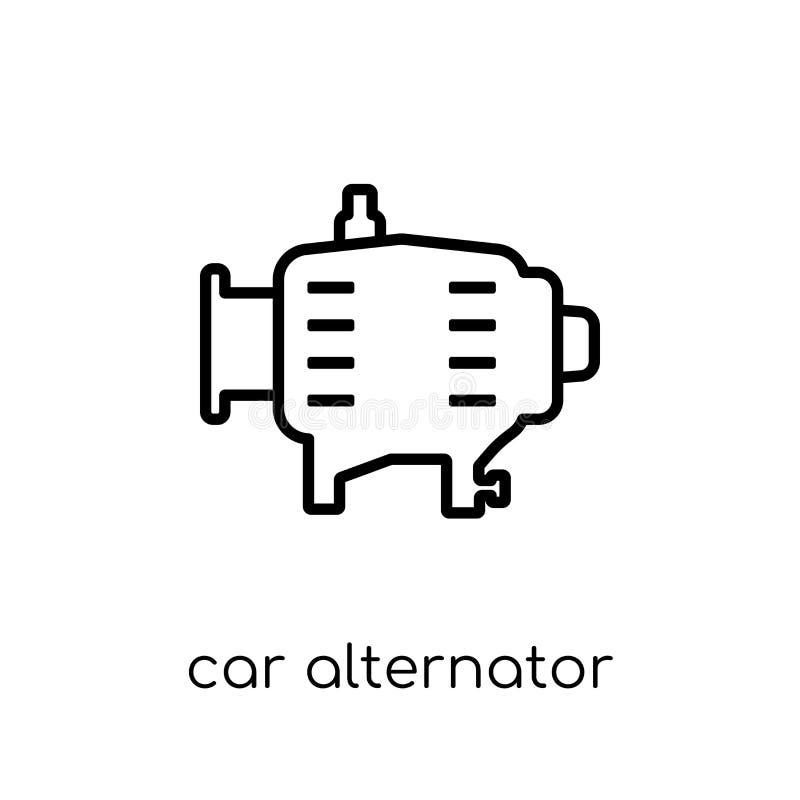 het pictogram van de autoalternator van de inzameling van Autodelen royalty-vrije illustratie