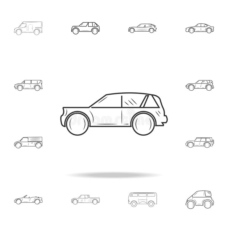 Het pictogram van de autolijn Gedetailleerde reeks auto'spictogrammen Premie grafisch ontwerp Één van de inzamelingspictogrammen  royalty-vrije illustratie