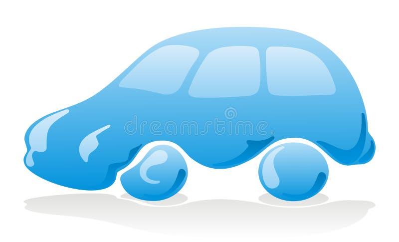 Het pictogram van de autowasserette vector illustratie