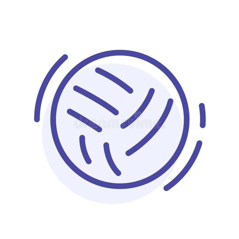 Het pictogram van de ballijn Een ski Vectorwebteken, knoop vector illustratie