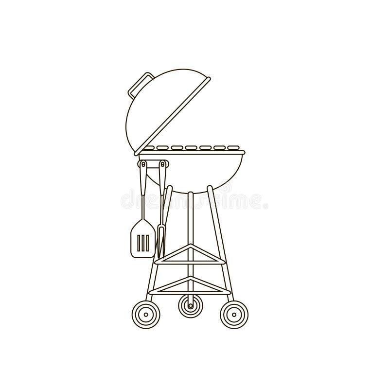 Het pictogram van de barbecuegrill royalty-vrije illustratie