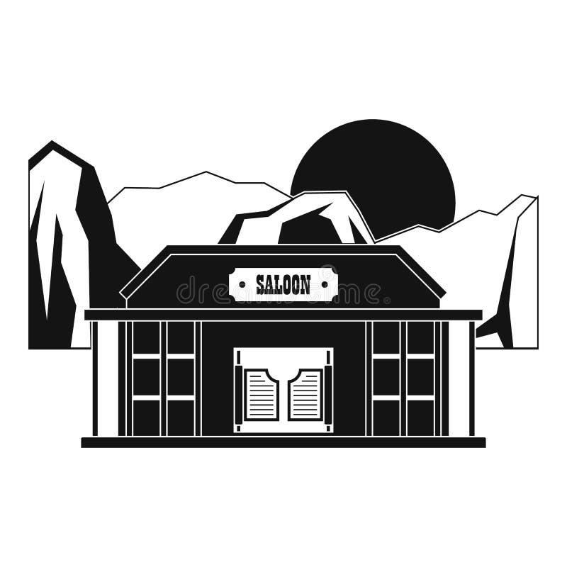 Het pictogram van de barzaal, eenvoudige stijl stock illustratie