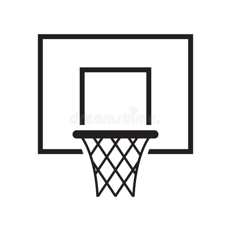Het pictogram van de basketbalmand Vector illustratie vector illustratie