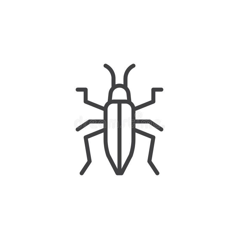 Het pictogram van de beddewantslijn vector illustratie