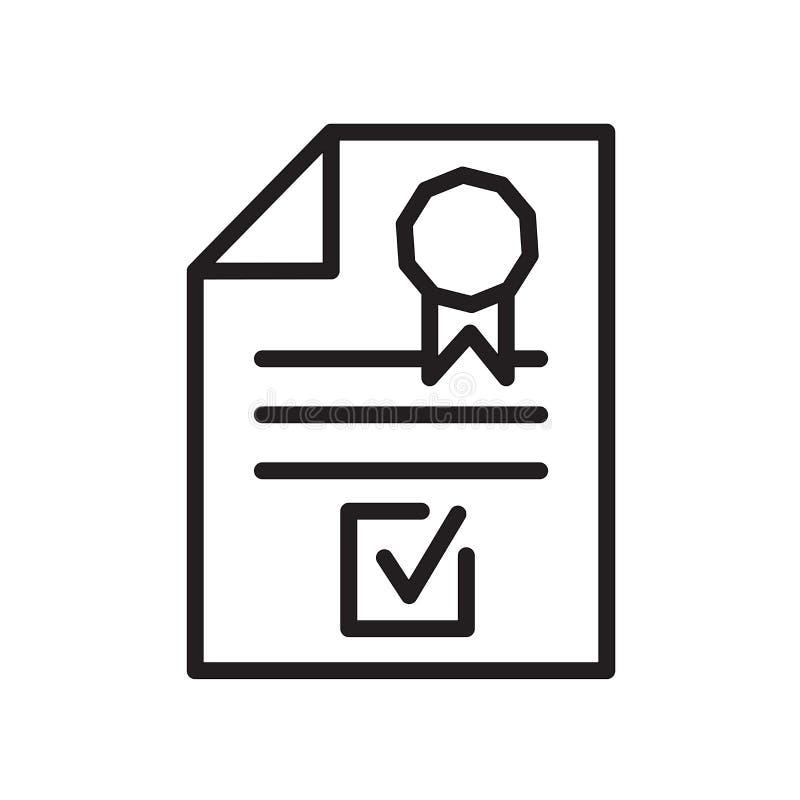 het pictogram van de bedrijfregistratie op witte achtergrond wordt geïsoleerd die royalty-vrije illustratie