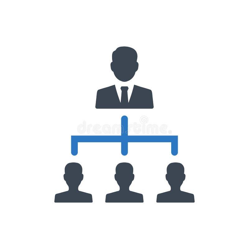 Het pictogram van de bedrijfshiërarchiestructuur royalty-vrije illustratie