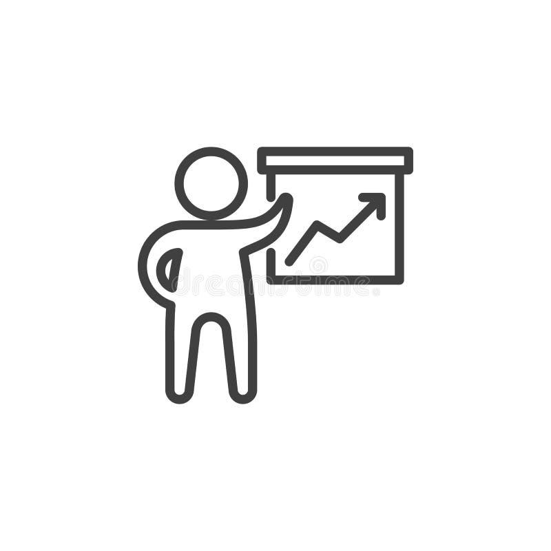 Het pictogram van de bedrijfspresentatielijn royalty-vrije illustratie