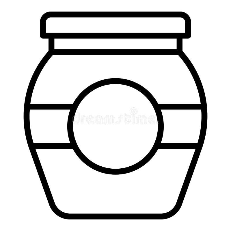 Het pictogram van de behoudsjampot, overzichtsstijl royalty-vrije illustratie