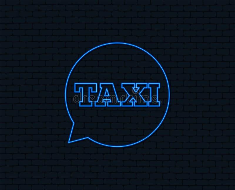 Het pictogram van het de bellenteken van de taxitoespraak Openbaar vervoer stock illustratie