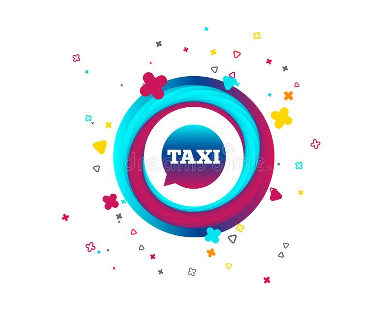 Het pictogram van het de bellenteken van de taxitoespraak Openbaar vervoer vector illustratie