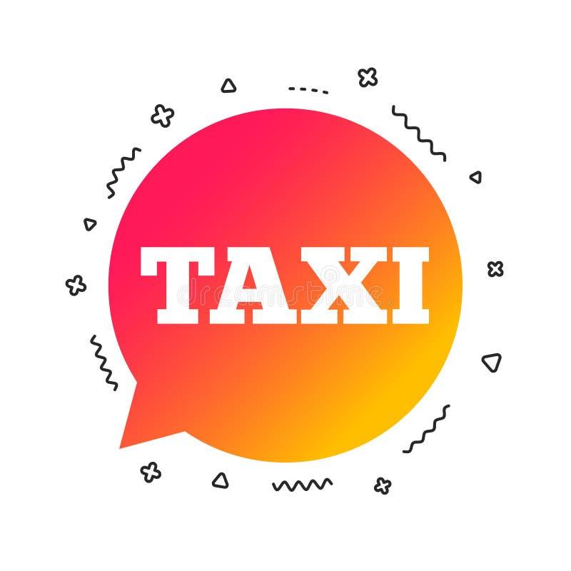 Het pictogram van het de bellenteken van de taxitoespraak Openbaar vervoer Vector stock illustratie