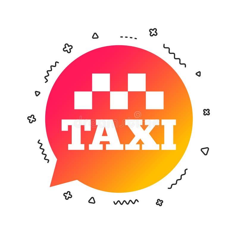 Het pictogram van het de bellenteken van de taxitoespraak Openbaar vervoer Vector royalty-vrije illustratie