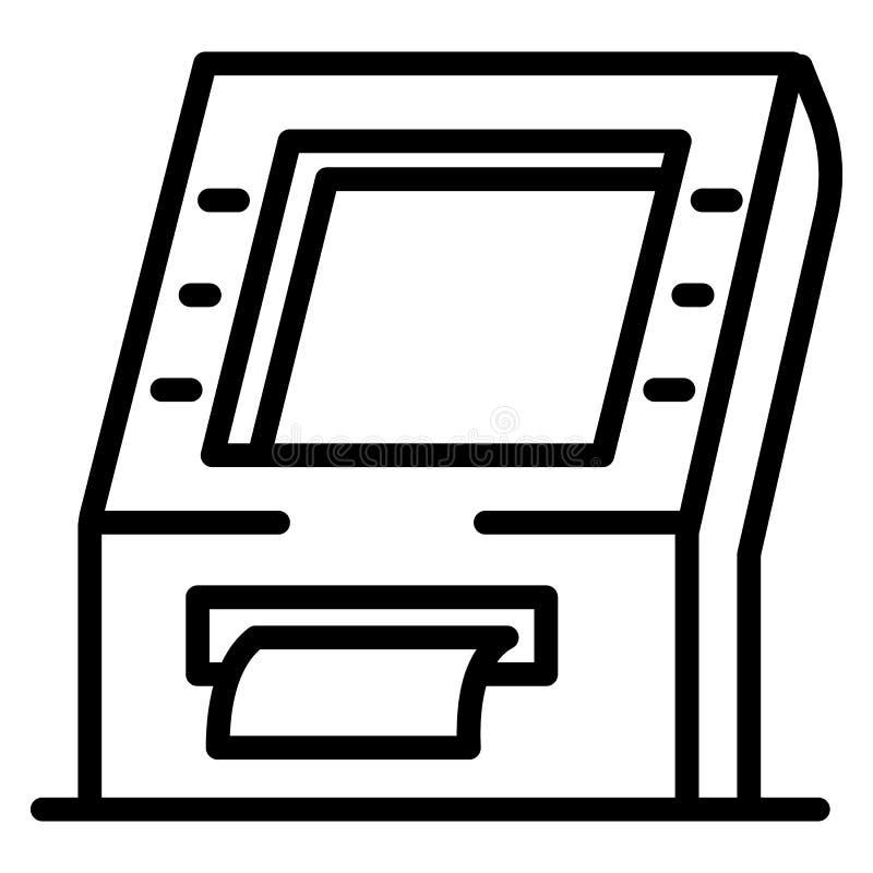 Het pictogram van de betalingsmachine, overzichtsstijl vector illustratie