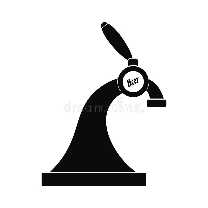 Het pictogram van de bierkraan vector illustratie