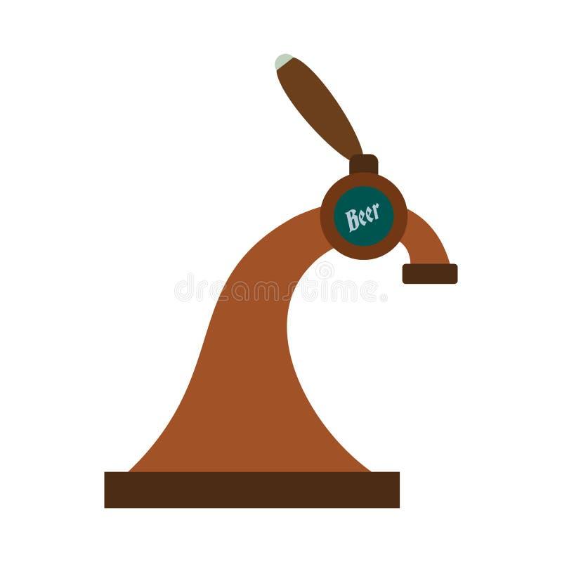 Het pictogram van de bierkraan stock illustratie
