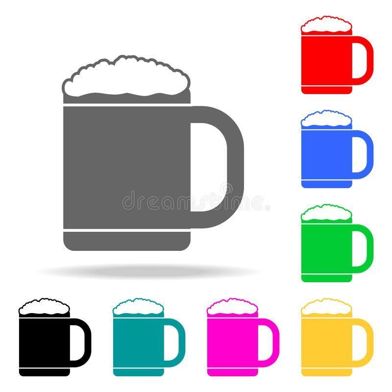 Het pictogram van de biermok Elementen van partij multi gekleurde pictogrammen Grafisch het ontwerppictogram van de premiekwalite stock illustratie