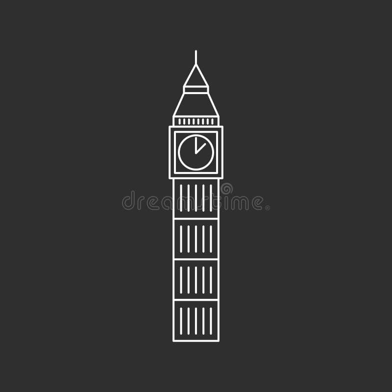 Het Pictogram van de Big Ben royalty-vrije illustratie