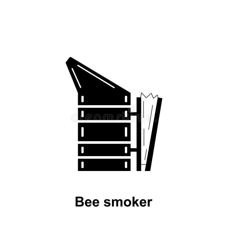 Het pictogram van de bijenroker Element van imkerijpictogram Grafisch het ontwerppictogram van de premiekwaliteit Tekens en symbo vector illustratie