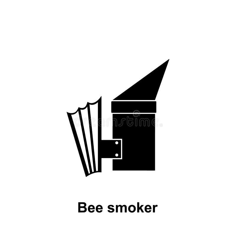 Het pictogram van de bijenroker Element van imkerijpictogram Grafisch het ontwerppictogram van de premiekwaliteit Tekens en symbo stock illustratie