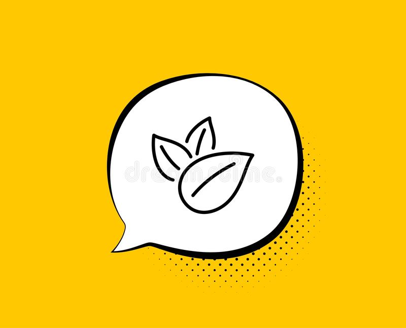 Het pictogram van de biologisch productlijn Geen kunstmatig kleurenteken Natuurlijke aroma's Vector vector illustratie