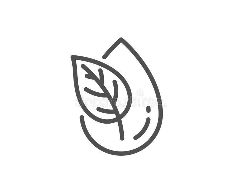 Het pictogram van de biologisch productlijn Geen kunstmatig kleurenteken Natuurlijke aroma's Vector stock illustratie