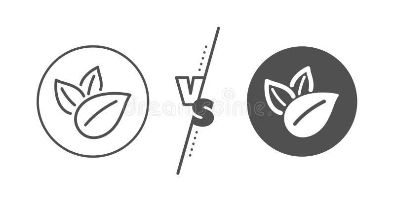 Het pictogram van de biologisch productlijn Geen kunstmatig kleurenteken Natuurlijke aroma's Vector royalty-vrije illustratie
