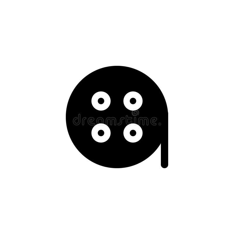 Het pictogram van de bioskoopspeler met de vectorillustrator van de glyphstijl royalty-vrije illustratie