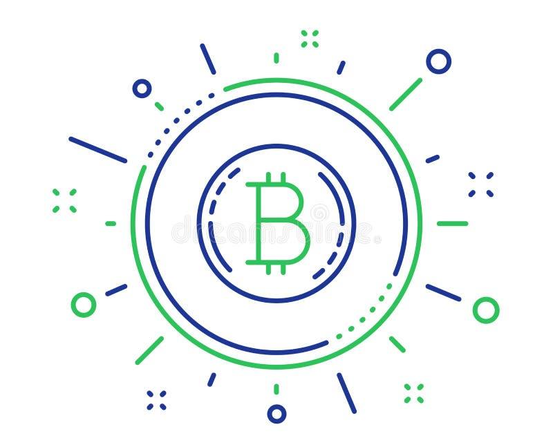Het pictogram van de Bitcoinlijn Het teken van het Cryptocurrencymuntstuk Vector royalty-vrije illustratie