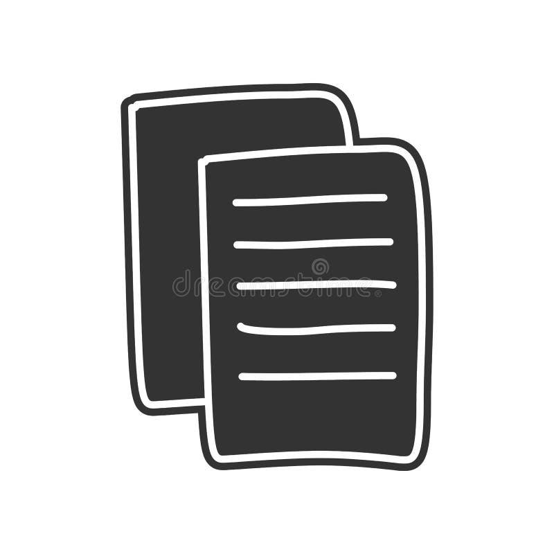 het pictogram van de bladen van documenten schets Element van onderwijs voor mobiel concept en Web apps pictogram Glyph, vlak pic royalty-vrije illustratie