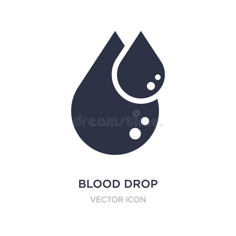 Het pictogram van de bloeddaling op witte achtergrond Eenvoudige elementenillustratie van Gezondheid en medisch concept stock illustratie