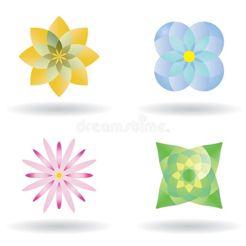Het pictogram van de bloem vector illustratie