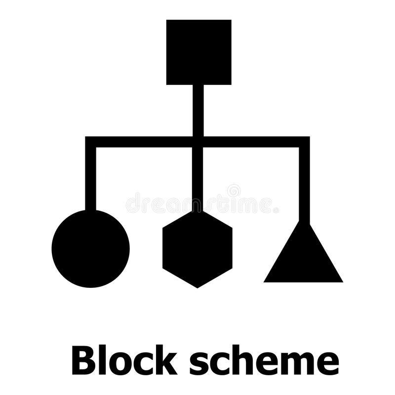 Download Het Pictogram Van De Blokregeling, Eenvoudige Stijl Vector Illustratie - Illustratie bestaande uit eenvoudig, segment: 107707523