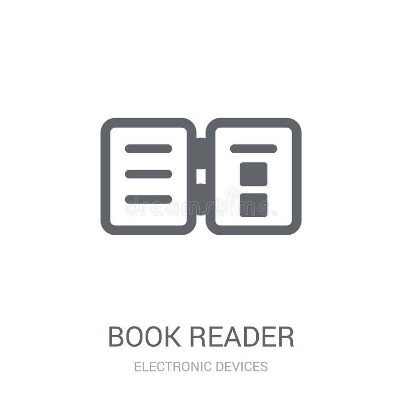 het pictogram van de boeklezer  vector illustratie