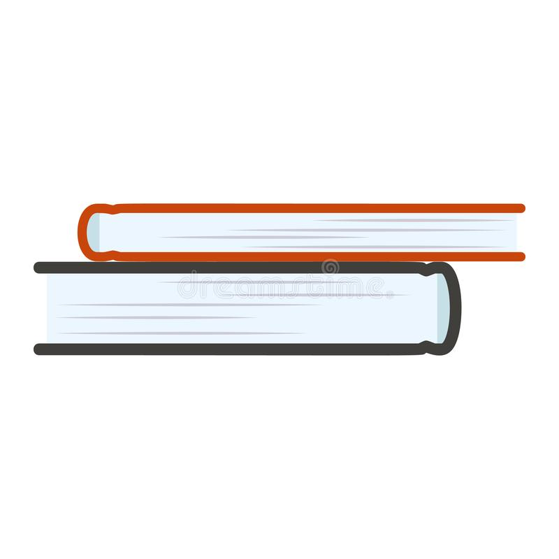 Het pictogram van de boekstapel, vlakke stijl vector illustratie