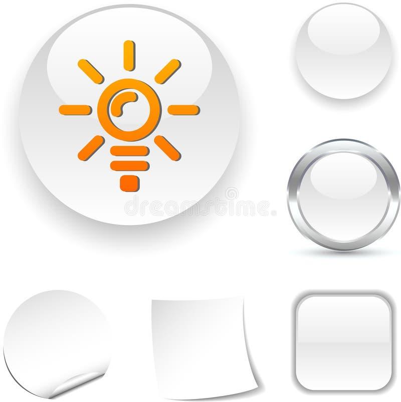 Het pictogram van de bol. stock illustratie