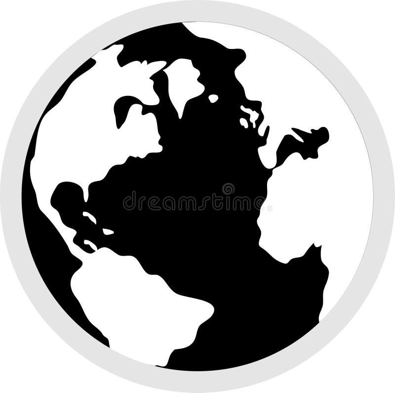 Download Het Pictogram van de bol vector illustratie. Illustratie bestaande uit aarde - 32127