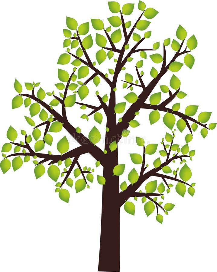 Het pictogram van de boom royalty-vrije illustratie
