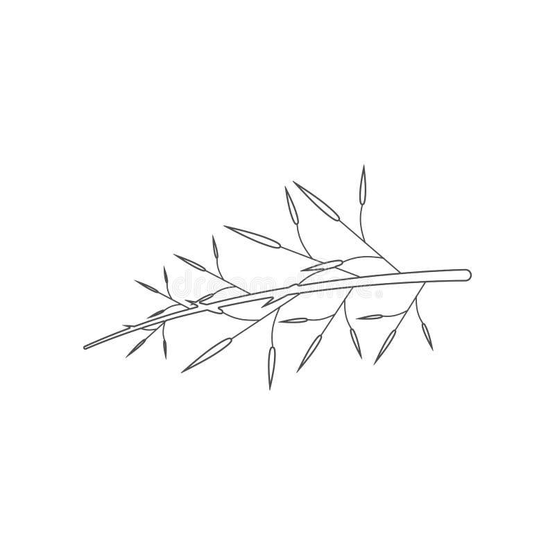 Het pictogram van de boomtak Element van China voor mobiel concept en webtoepassingenpictogram Overzicht, dun lijnpictogram voor  royalty-vrije illustratie