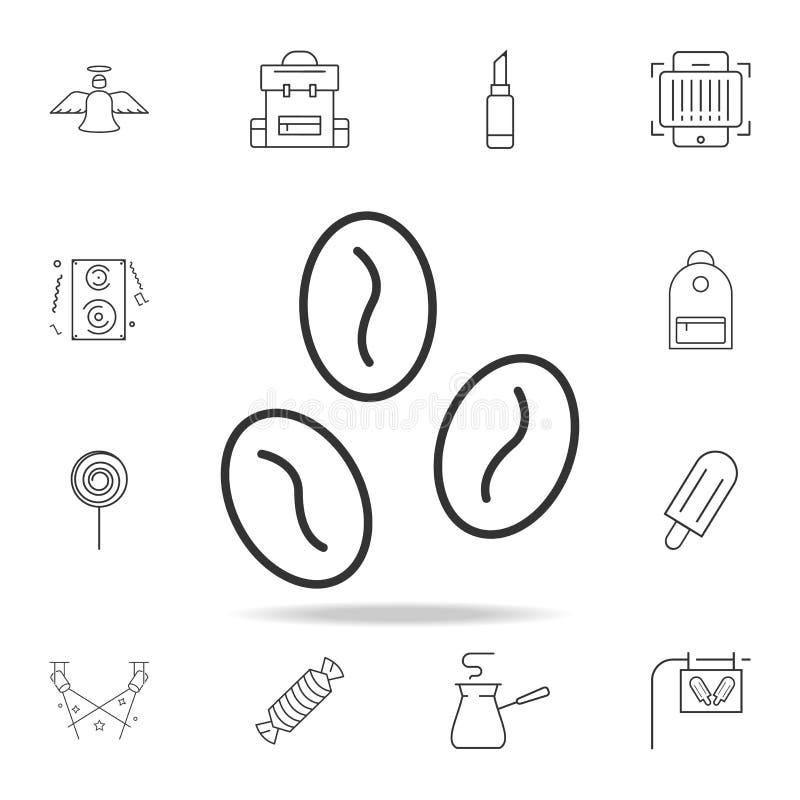 Het pictogram van de de boonlijn van de pictogramkoffie Gedetailleerde reeks Webpictogrammen en tekens Premie grafisch ontwerp Éé vector illustratie