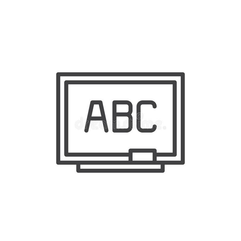 Het pictogram van de bordlijn royalty-vrije illustratie