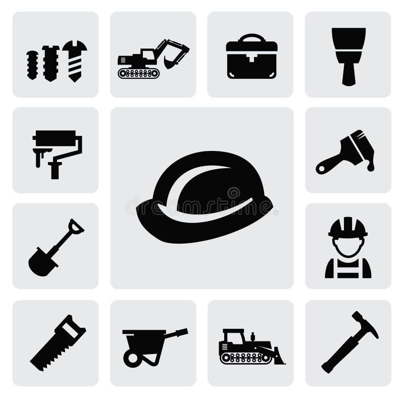 Het pictogram van de bouw royalty-vrije illustratie