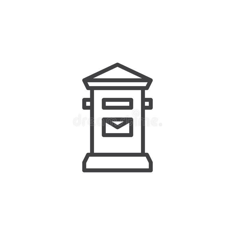 Het pictogram van de brievenbuslijn vector illustratie