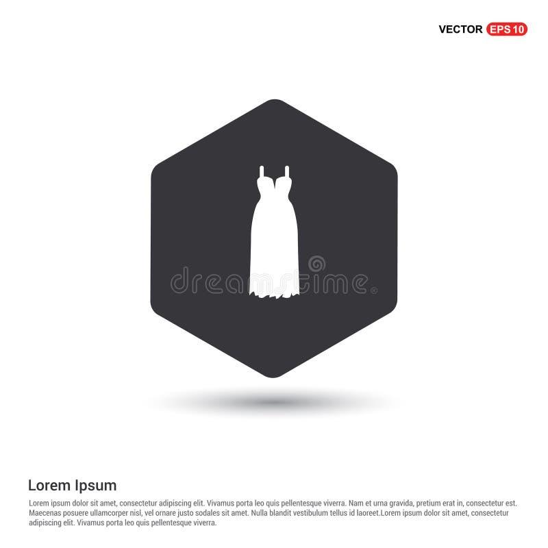 Het pictogram van de bruidkleding vector illustratie